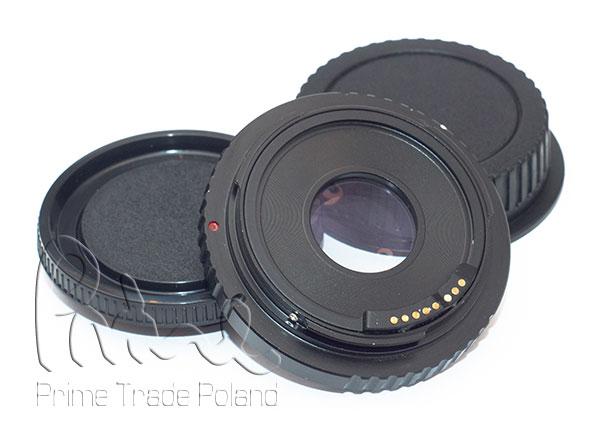 Adapter MD na EOS Canon potwierdzenie AF